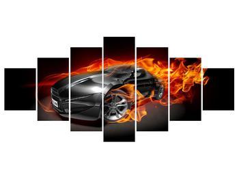Tablou cu mașina arzând (K011174K210100)