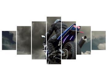Tablou cu motociclist cu motocicletă (K011302K210100)