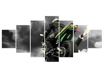 Tablou cu motociclist pe motocicletă (K011383K210100)
