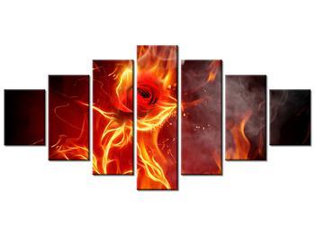 Tablou cu trandafir în foc (K011399K210100)