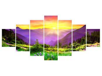 Obraz horské krajiny s východem slunce (K011873K210100)