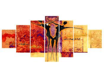 Tablou abstract cu doi dansatori (K011975K210100)