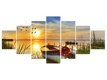Obraz loďky na jezeře (K012049K210100)