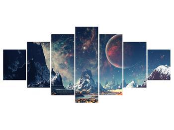 Tablou cu peisaj montan cu planete (K012168K210100)
