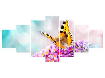 Obraz motýla na květech (K012351K210100)