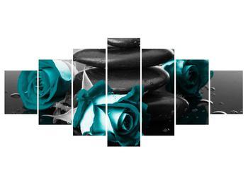 Tablou cu trandafiri albastre (K012553K210100)