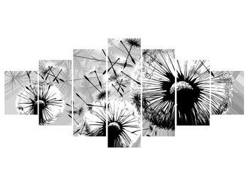 Moderní obraz černobílých pampelišek (K014188K210100)