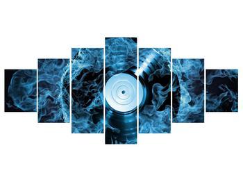 Tablou cu placă de gramofon în foc albastru (K014442K210100)