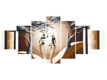 Tablou oriental cu două femei și copac (K014682K210100)