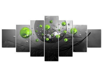 Obraz zelených abstraktných gulí (V020103V210100)