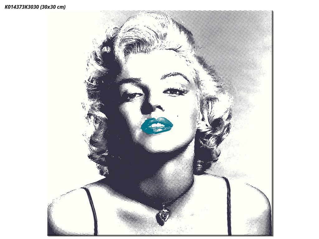 Obraz Marilyn Monroe s modrými rty (K014373K3030)