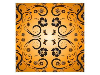 Abtraktní oranžový obraz (F000003F3030)