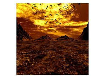 Obraz vyprahlého údolí (F000287F3030)