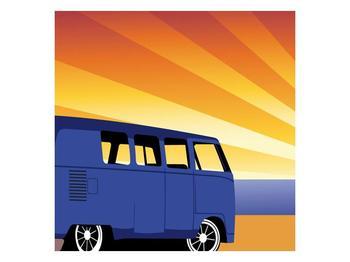 Kreslený obraz autobusu (F001613F3030)