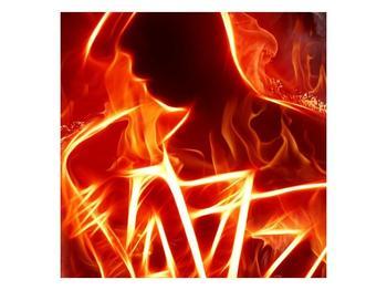 Obraz ohnivé postavy (F001691F3030)