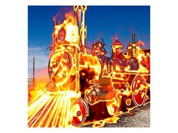 Obraz ohnivé lokomotivy (F001696F3030)