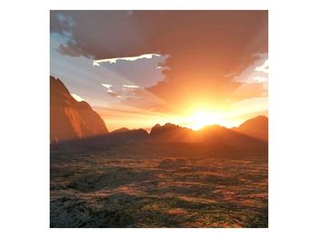 Obraz západu slunce nad horama (F001700F3030)