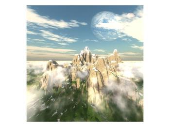 Obraz zasněžených vrcholů skal (F001715F3030)