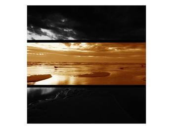 Dvroubarevný obraz moře (F001957F3030)