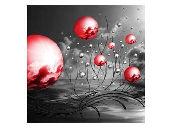 Moderní obraz - červené koule (F002086F3030)