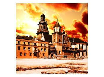 Obraz žlutooranžového zámku (F002457F3030)