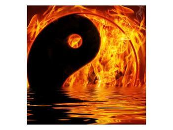 Obraz hořícího Jin Jangu  (F002885F3030)