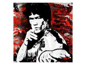 Obraz Bruceho Lee s červeným drakem  (F003701F3030)