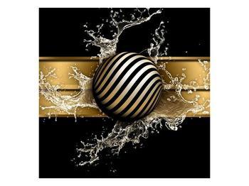 Obraz pruhované koule a vody (F004116F3030)