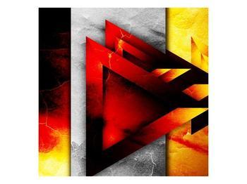 Moderní obraz červených trojúhelníků  (F004163F3030)