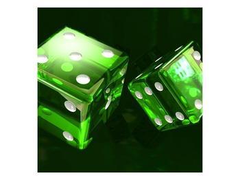 Moderní obraz dvou zelených hracích kostek (F004293F3030)