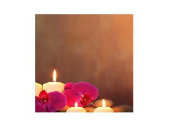 Tablou relaxant cu lumănâri și orhidee (K011120K3030)