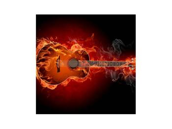 Lángoló gitár képe (K011168K3030)