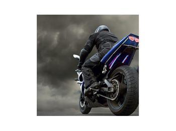 Tablou cu motociclist cu motocicletă (K011302K3030)