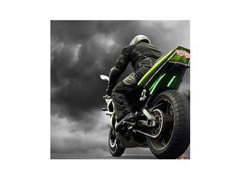 Tablou cu motociclist pe motocicletă (K011383K3030)