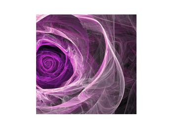 Tablou modern cu trandafir violet (K011482K3030)