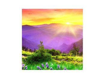 Obraz horské krajiny s východem slunce (K011873K3030)