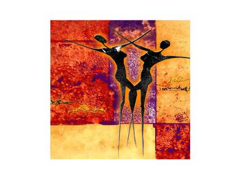 Tablou abstract cu doi dansatori (K011975K3030)