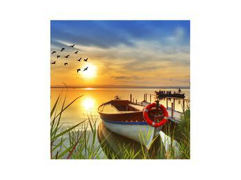 Obraz loďky na jezeře (K012049K3030)