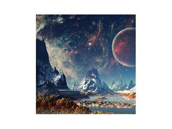 Tablou cu peisaj montan cu planete (K012168K3030)