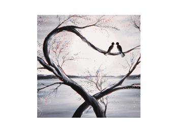 Tablou cu păsări îndrăgostite (K012516K3030)