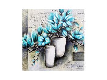 Obraz modrých kvetov vo váze (K013907K3030)