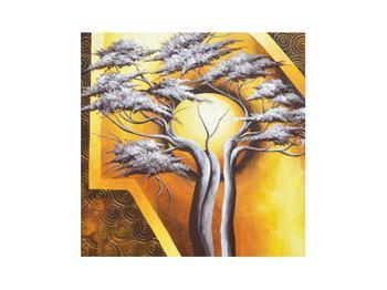 Orientální obraz stromu a slunce (K014067K3030)