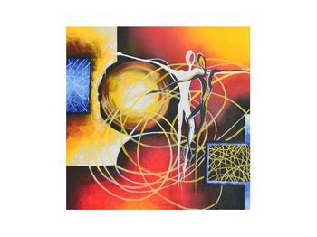 Abstraktní obraz tanečníků (K014151K3030)