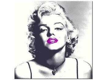 Obraz Marilyn Monroe s fialovými rty (K014372K3030)