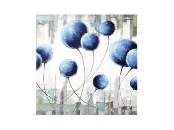 Abstraktní obraz - modré balónky (K014707K3030)
