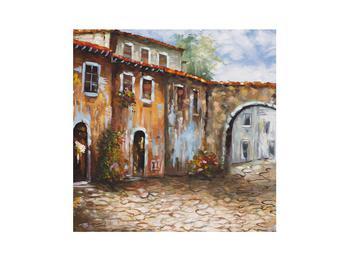 Obraz malované středomořské uličky (K014855K3030)