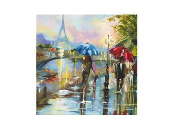 Obraz deštivého počasí a Eiffelovy věže (K014858K3030)