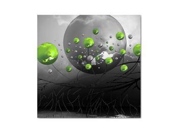 Obraz zelených abstraktných gulí (V020103V3030)