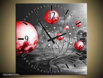 Moderní obraz - červené koule (F002086F3030C)