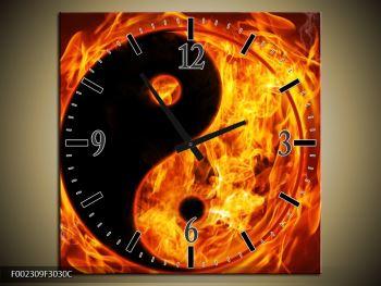 Obraz hořícího jin jang (F002309F3030C)